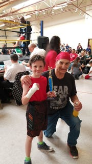 Davis Warner, left, and Danny Morales after the win in Portales.
