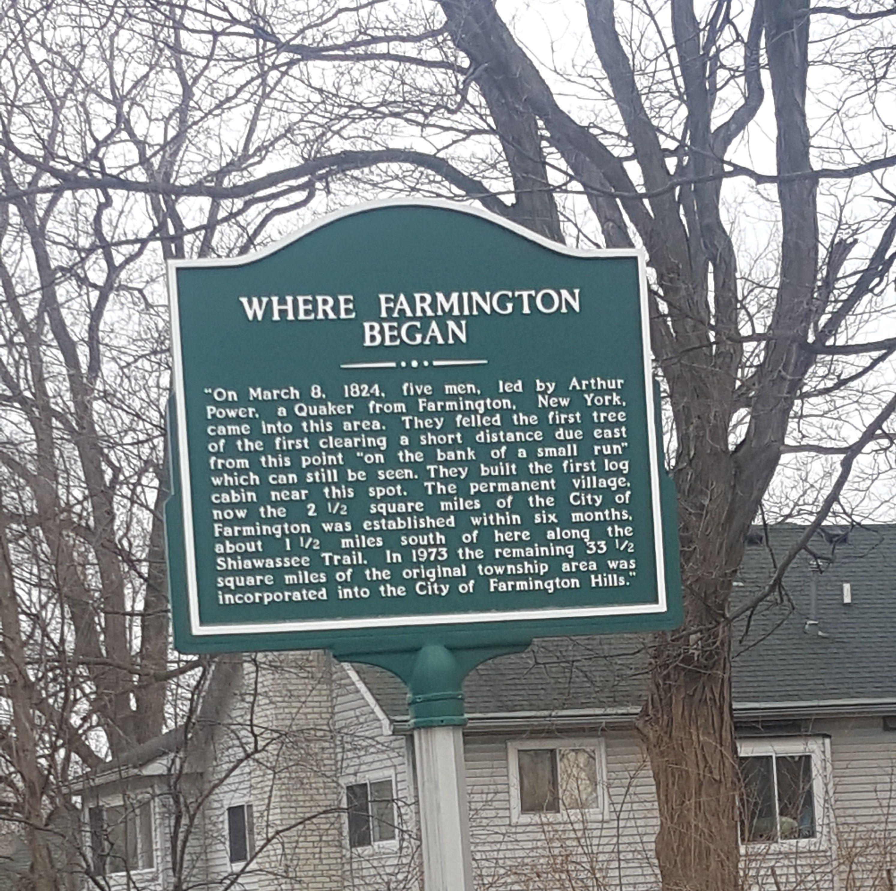 A Brief Look Back: Eight facts about Farmington's 1824 founding