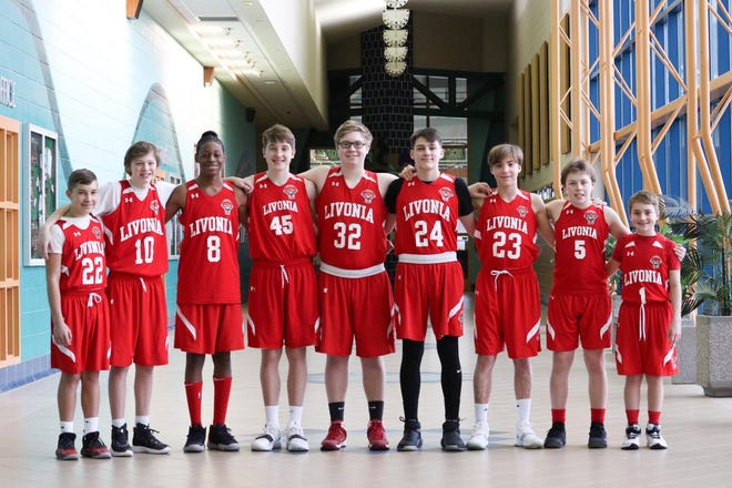 The Livonia Hawks Red team finished the regular season 14-0.