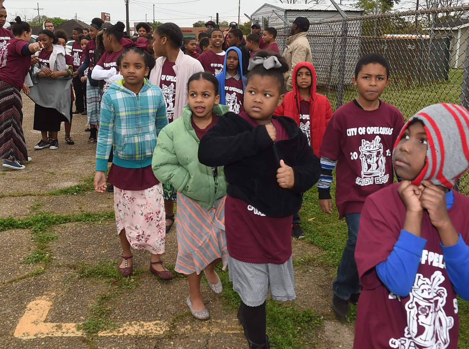 Opelousas students take part in the annual Trash Bash in anticipation of the Cleanest City Contest.