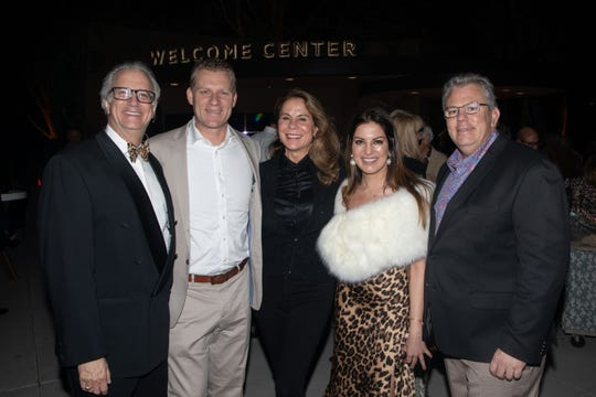 Brian Harnik, Chad Mayes, Jan Harnik, Andis Almasi, and Rob Bernheimer showing support and appreciation for the Living Desert.