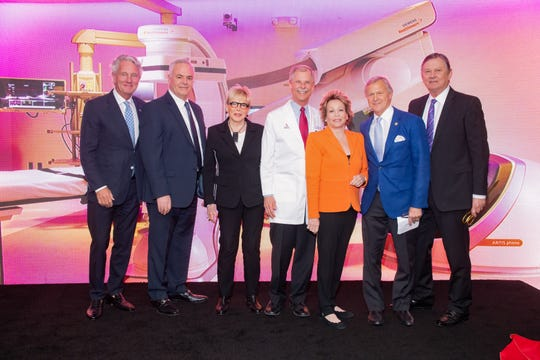Eisenhower Chairman of the Board Greg Renker, Marty Massiello, Sally Berger, Alan Williamson, MD, Joyce Brandman, Eisenhower Foundation President Michael Landes, and Aubrey Serfling