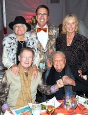 (Back row, from left) Honoree Patti Grundhofer, Living Desert President and CEO Allen Monroe, and Title Sponsor and Honorary Presenting Chair Shellie Reade; (Front row, from left) Honoree Jack Grundhofer and Title Sponsor and Presenting Chair Harold Matzner.