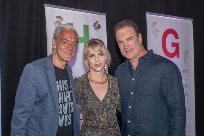 From left: Richard Shadyac Jr., CEO of ALSAC, with Cathy Jennings and Patrick Warburton