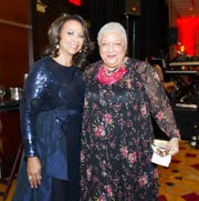 L-Fund Executive Director Barbara Carpenter (left) and honoree Jewelle Gomez