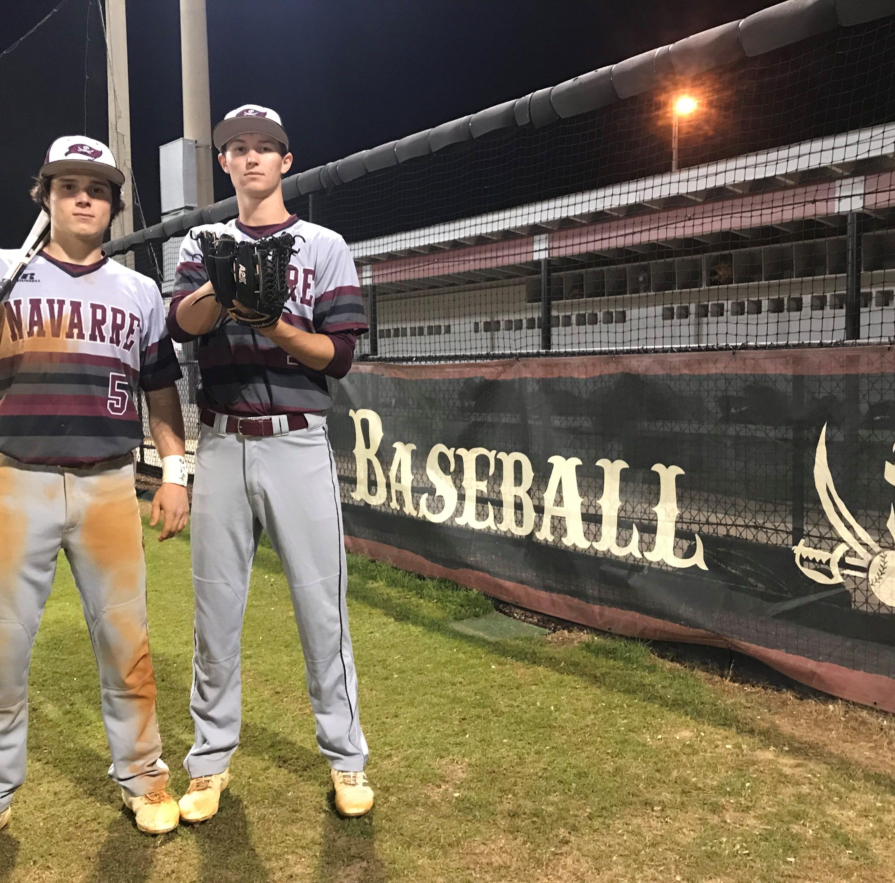 Navarre seniors Ackman, Terrian aim for steady improvement for baseball team