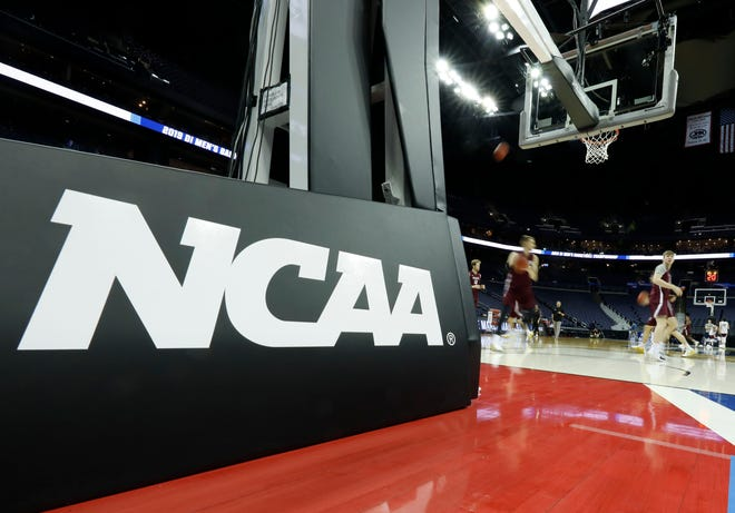 General view of the arena during the Colgate Raiders' practice before the first round of the 2019 NCAA Tournament at Nationwide Arena. Mandatory Credit: Rick Osentoskij-USA TODAY Sports