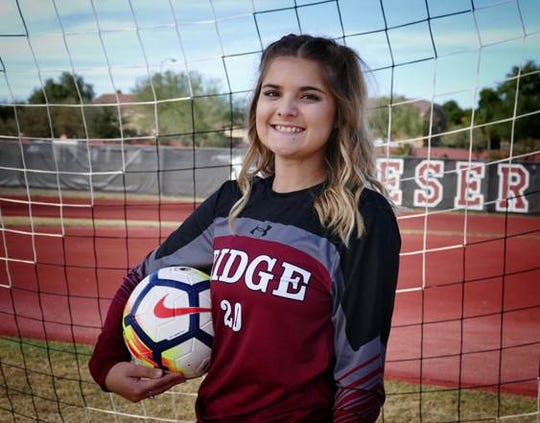 Girls Soccer Player of the Year nominee Jessica Olander of Desert Ridge #azcsportsawards