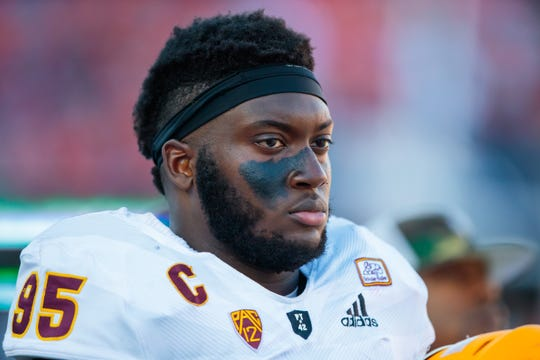 Arizona State defensive lineman Renell Wren had 43 total tackles, including 4.5 for a loss and one sack last season for the Sun Devils.