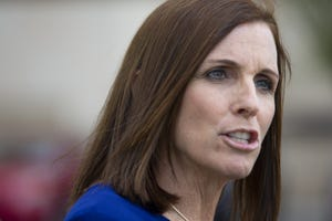 """Sen. Martha McSally, R-Ariz., dismissed a CNN reporter as a """"liberal hack"""" after he asked a question about the Senate's upcoming impeachment trial."""