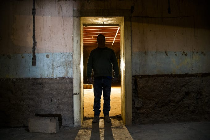 Reggie Mackay of Adobe Technology shows off the interior of the old Monti's La Casa Vieja on Mill Avenue in Tempe on March 21, 2019.   The parts of the building that are original, dating back to the late 1800s, are being retained. Only add-ons and additions made in later years are being torn down.