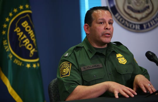 U.S. Border Patrol Tucson Sector Chief Roy Villarreal at CBP headquarters in Tucson on March 21, 2019.