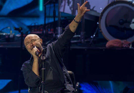 Phil Collins performs  at the Auditorio Citibanamex on his Not Dead Yet tour in Monterrey, Mexico,  March 6, 2018.