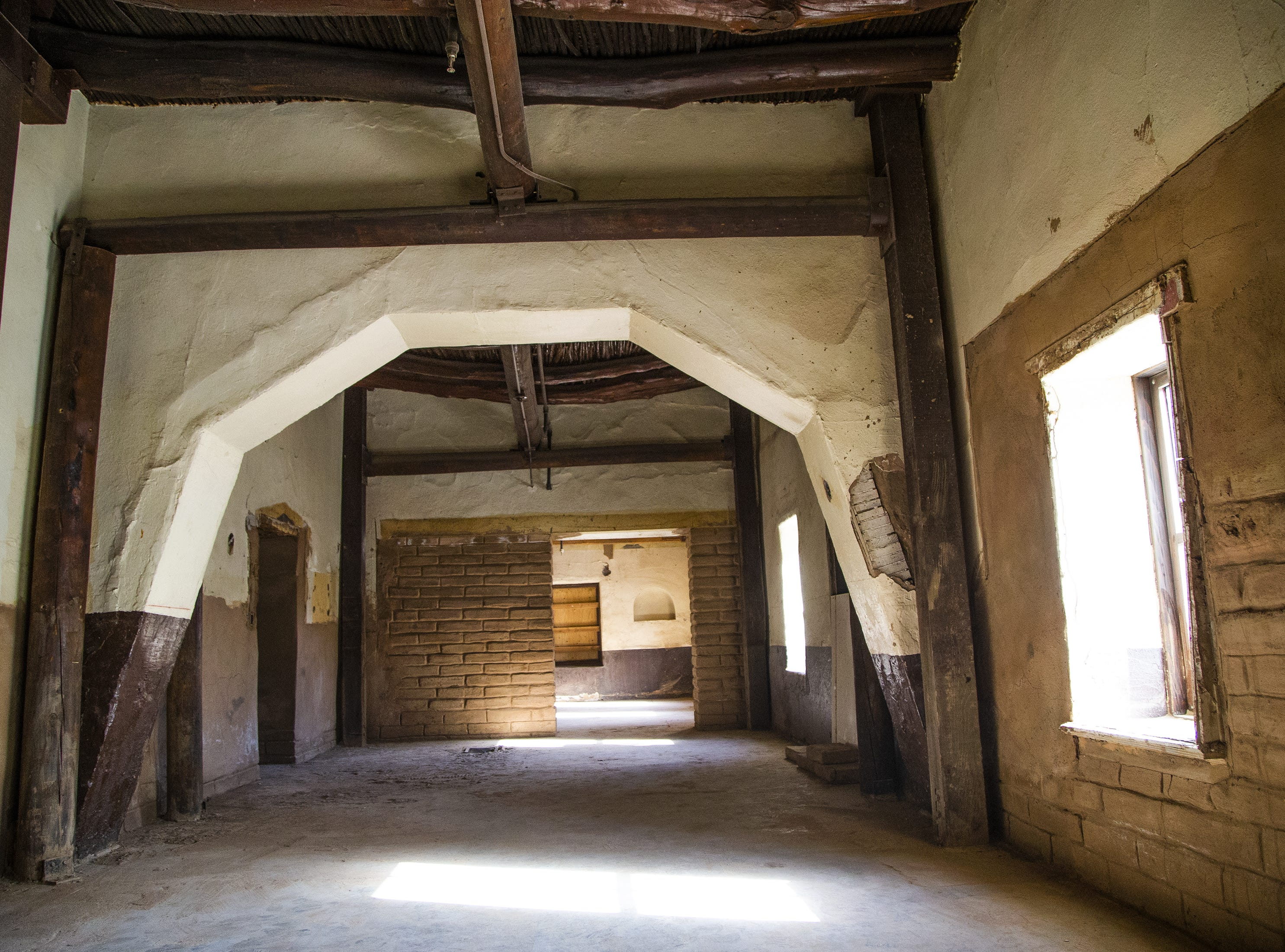 This is an original room with a 1924 remodel inside the old Monti's La Casa Vieja on Mill Avenue in Tempe on March 21, 2019.   The parts of the building that are original, dating back to the late 1800s,  are being retained. Only add-ons and additions made in later years are being torn down.