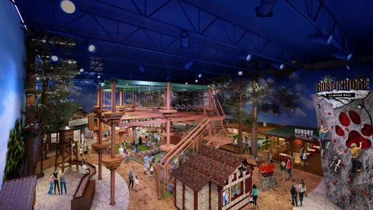Artist rendering of Adventure Park inside Great Wolf Lodge Arizona, opening Oct. 17, 2019.