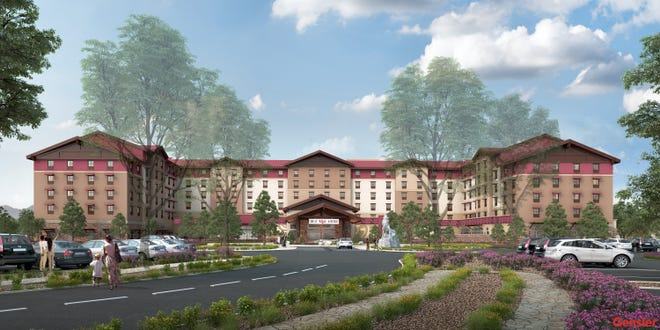 Artist rendering of Great Wolf Lodge Arizona, opening Oct. 17.