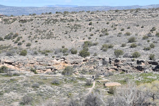 The edge of Montezuma Well as seen from the Well Vista Trail.