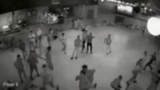 Surveillance video released by Glendale Police Wednesday shows officers pepper spraying teens after fights broke out at Great Skate roller rink last weekend.