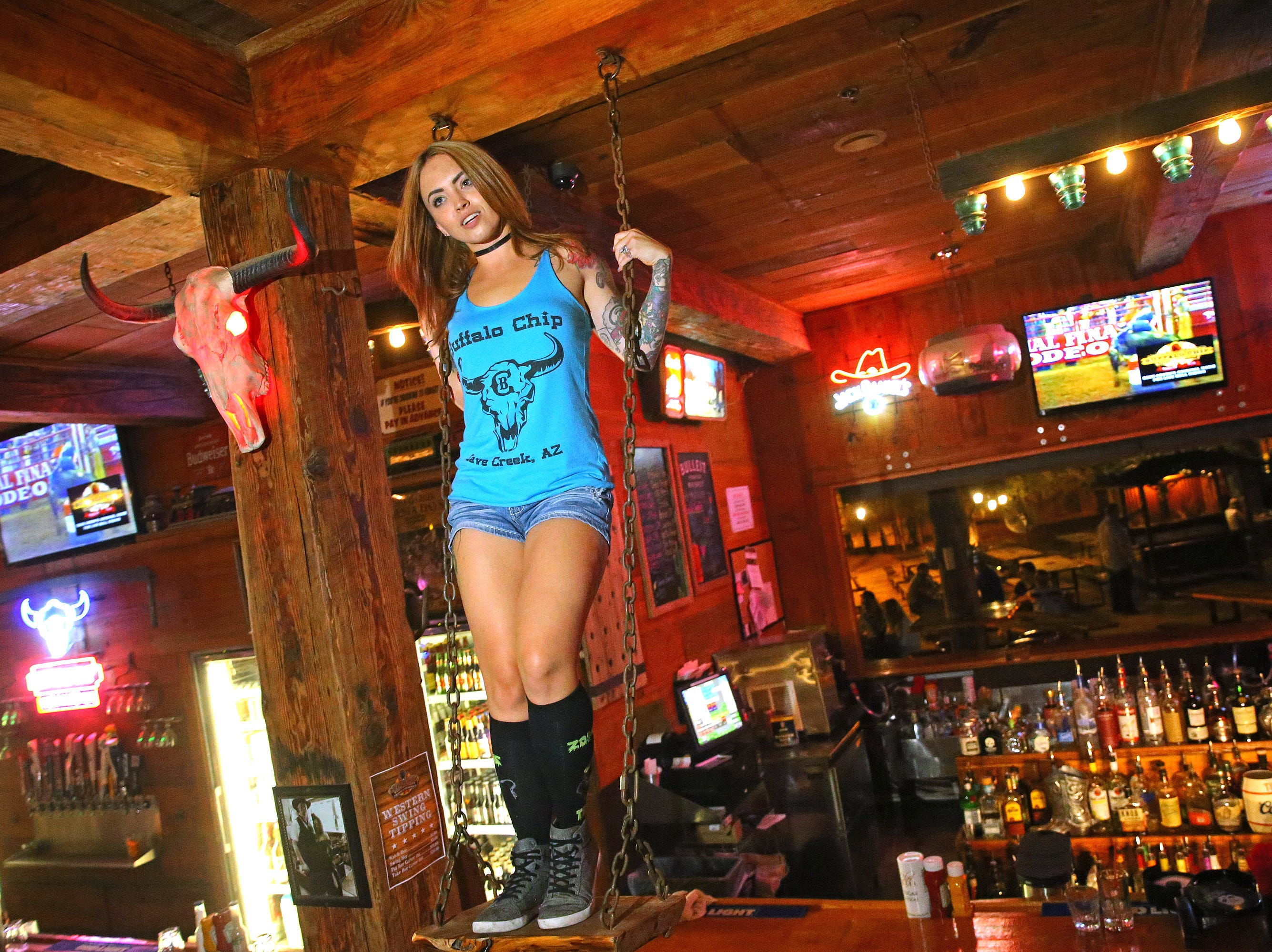 Buffalo Chip Saloon: Buffalo Chip Saloon has been around since 1951, and there's something to do for every cowboy and cowgirl. It's no bull that this saloon offers live bull-riding lessons on Wednesday and Friday evenings. Or if guests prefer something a little gentler, free dance lessons are on Mondays, Tuesdays,Thursdays and Sundays, andlive music on Tuesdays through Sundays. The menu includes fried chicken, smoked brisket, breaded catfish, honey butter biscuits and cowboy beans. Fridays is all-you-can-eat fish fry, too. This is an all-ages spot, but those under 21 need to have a parent or guardian. Details:6823E. Cave Creek Road, Cave Creek. 480-488-9118, buffalochipsaloon.com.