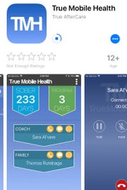 The True Mobile Health app as seen in the Apple App Store.