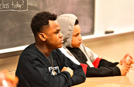 Students learn about Narcan during York City Public Safety Academy at York High School in York City, Thursday, March 21, 2019. Dawn J. Sagert photo
