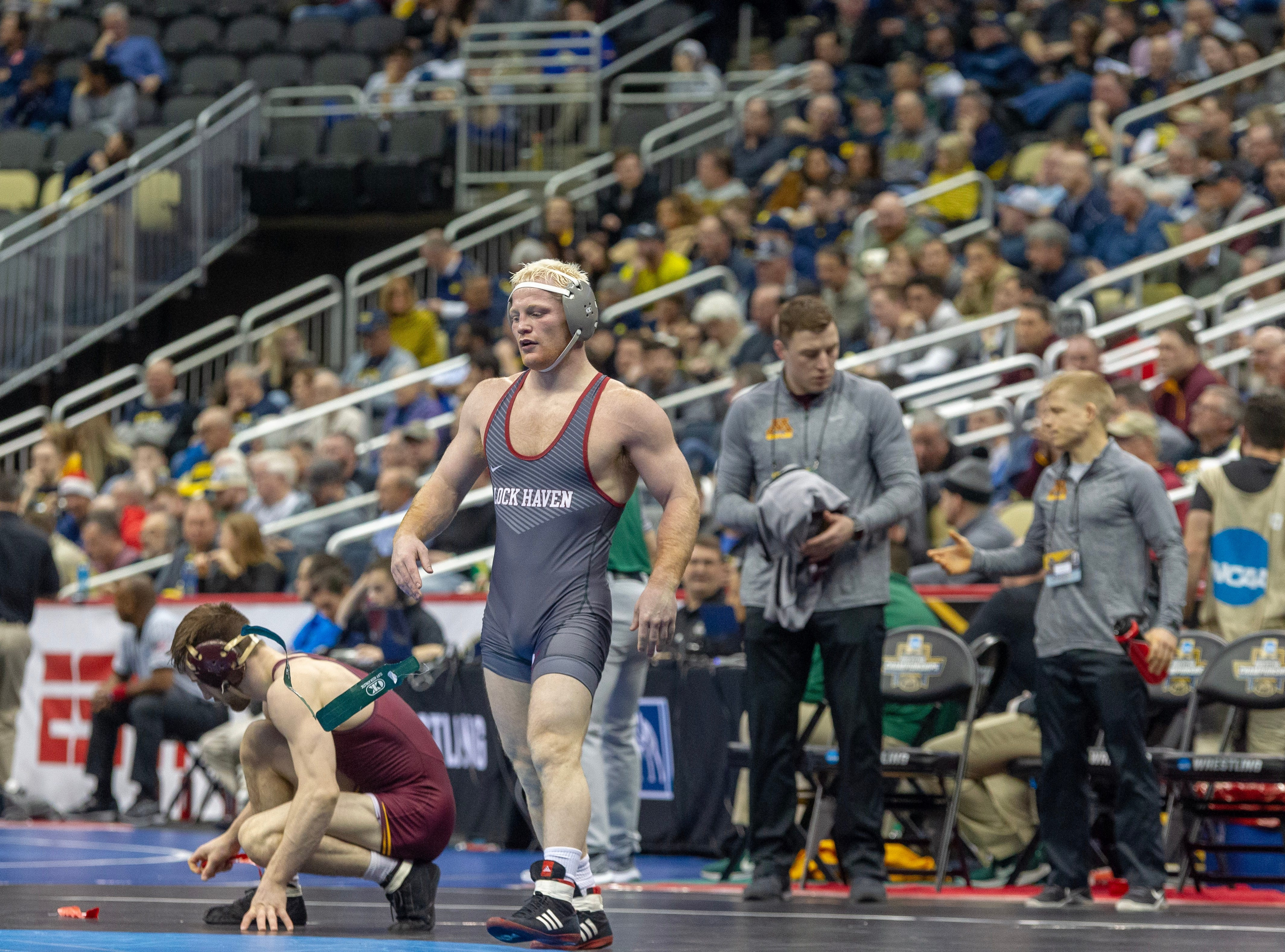 Chance Marsteller's opening-round victory in the NCAA Championships keeps him on path to culminate a grand personal recovery. Marsteller was a four-time state champ at Kennard-Dale and the nation's No. 1 recruit.
