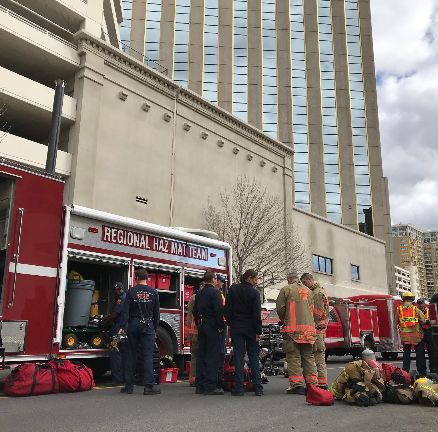 Hazmat called to Silver Legacy; powder determined to be harmless residue from Kleenex box