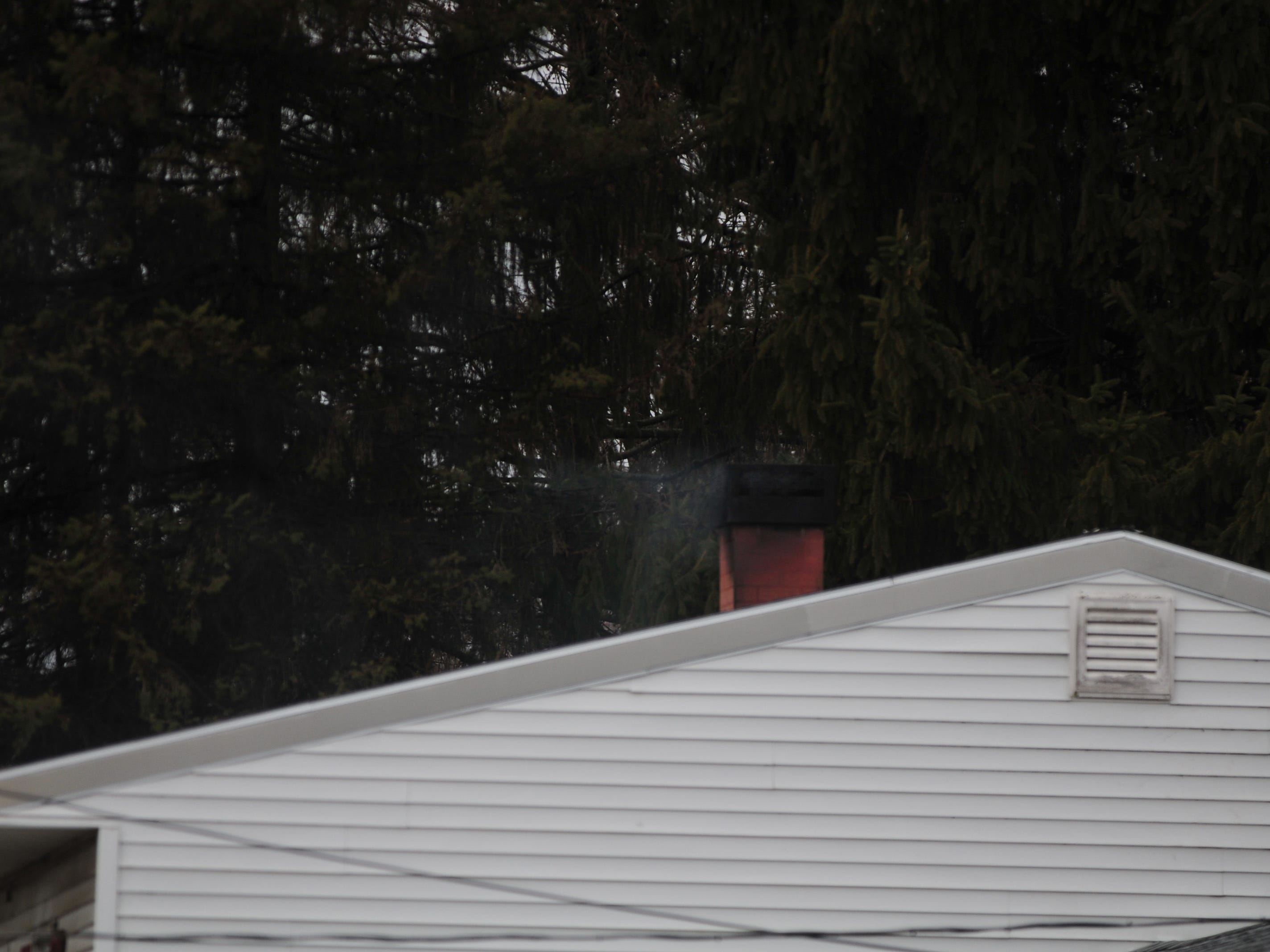 Creosote inside a chimney caught fire about 9:30 a.m. Thursday at a residence in the 6800 block of U.S. 40 West.