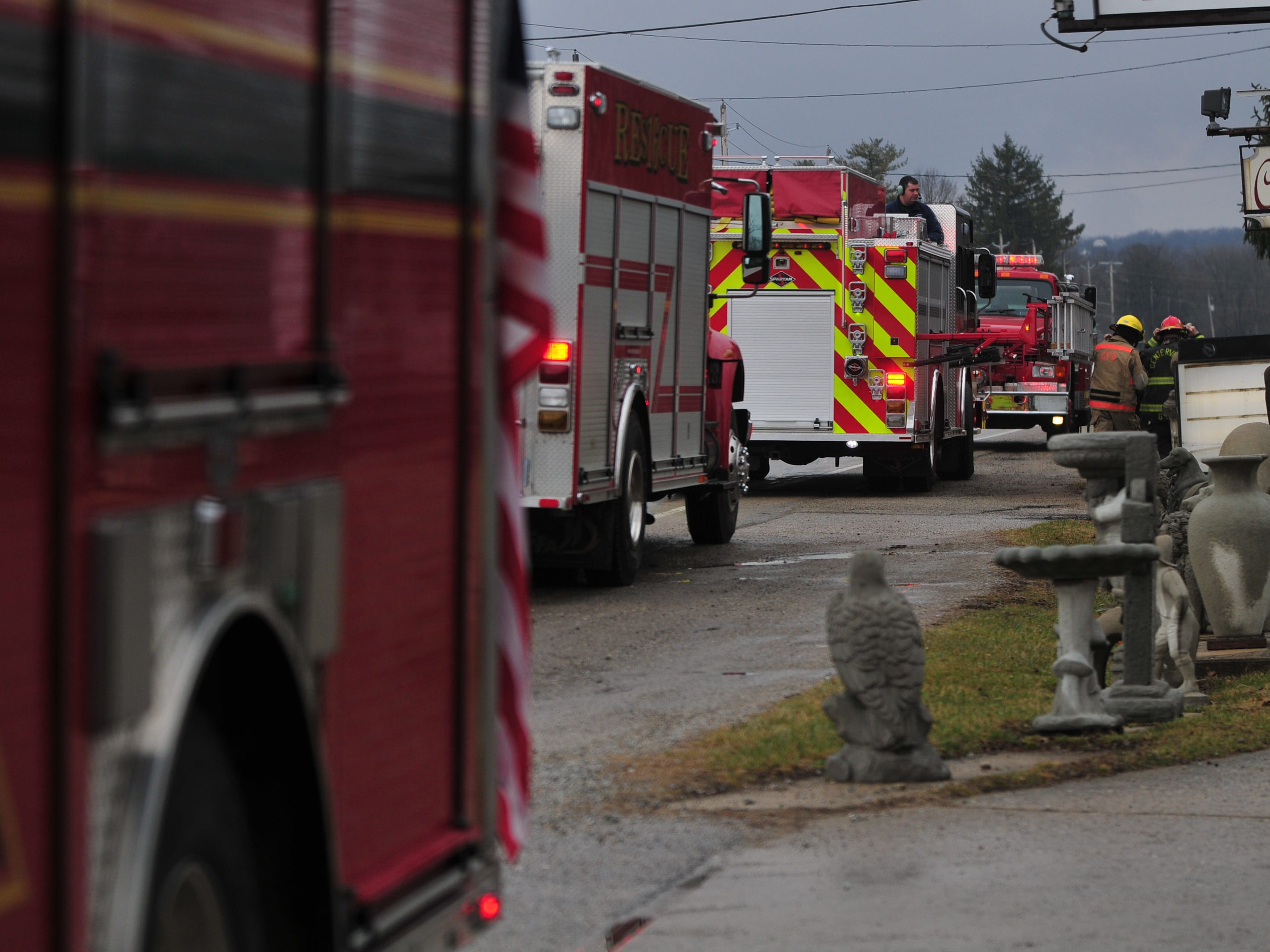 Firefighters from Centerville, Greens Fork and Cambridge City responded about 9:30 a.m. Thursday to a chimney fire in the 6800 block of U.S. 40 West.
