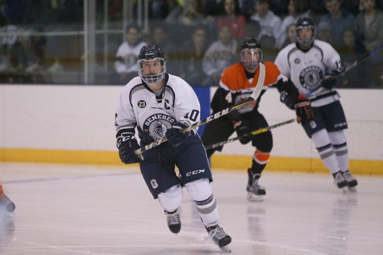Conlan Keenan of Webster leads Geneseo with 23 goals. The junior forward was SUNYAC Player of the Year.