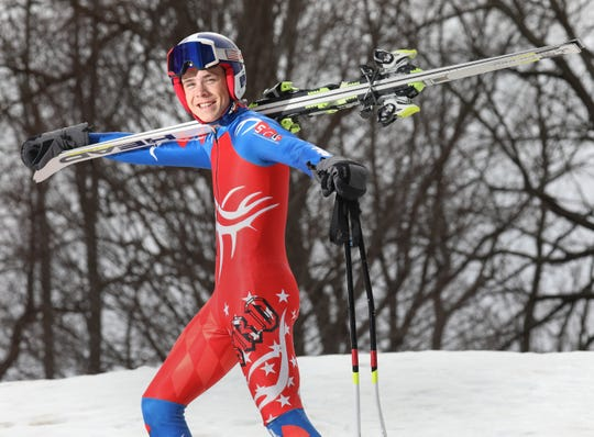 Zane Graham, Pittsford, Boys Alpine Skier of the Year 2019.