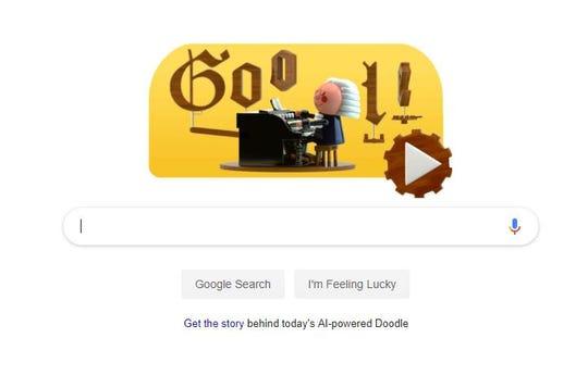 Today's Google Doodle celebrates Johann Sebastian Bach.