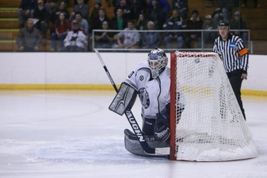 Senior goalie Devin McDonald is 23-1-2 with a 1.15 goals against average and .943 save percentage for Geneseo, leading Ice Knights to third Frozen Four in six seasons. McDonald set an NCAA record with 12 shutouts.