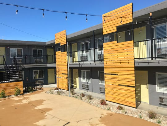 The Americana Modern Hotel, formerly Americana Lodge, in downtown Redding has been completely refurbished. The remodel includes a patio area where movies and live events will be staged.