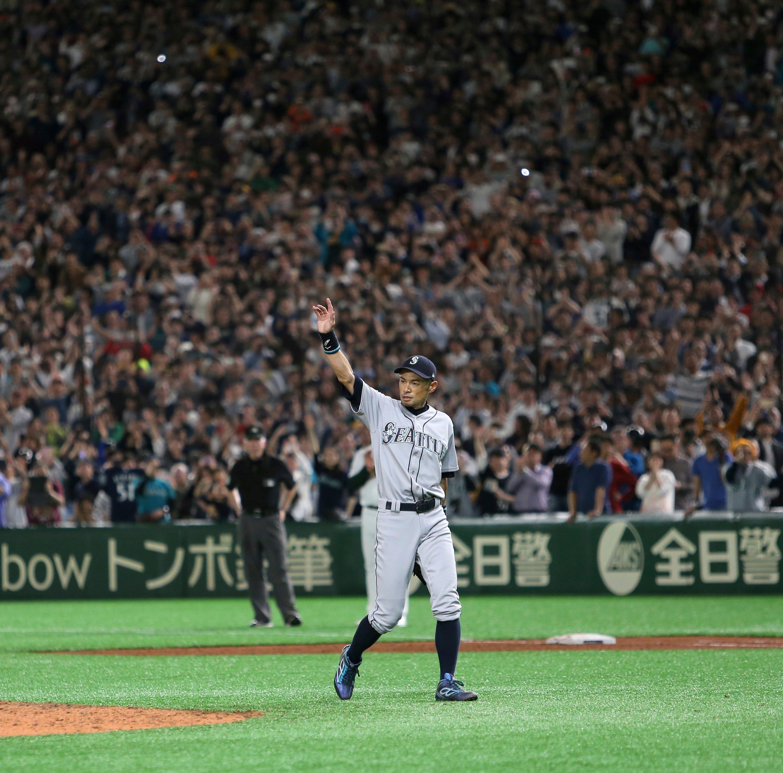 Seattle Mariners' Ichiro Suzuki walks off into history in 'sayonara' at Tokyo Dome