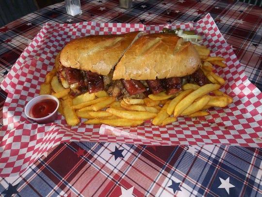 The Sasquatch Sandwich Challenge at Squatchy's BBQ in Stayton.