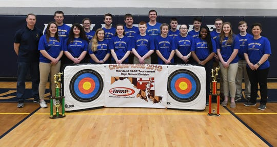 The Holly Grove Archery team claimed 5 of 6 titles at the Maryland NASP State Championship on Saturday, March 16, 2019