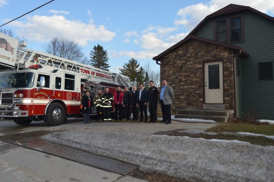 Kohler Credit Union donated several homes to the Town of Sheboygan Fire Department for training.