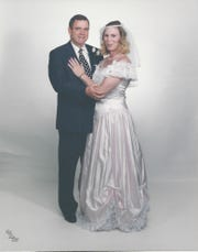 Hardy with her husband in 1997