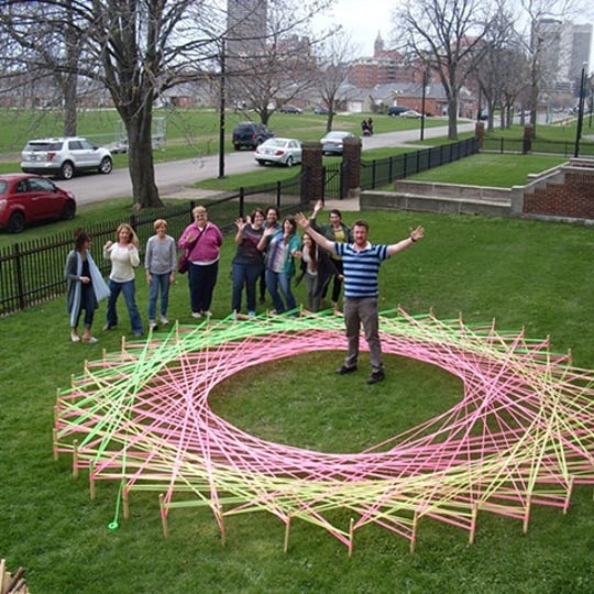 The R.W. Norton Art Gallery invites the community to create floral art installations on the museum's lawn using string. The String Fling Outdoor Art Installation will be crafted from 3 p.m. to 7 p.m. March 22.