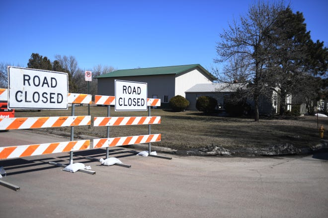 Paula Spielmann's home at 404 West Rose Street Thursday, March 21, in Sioux Falls. Spielmann's home in uninhabitable because of flooding last week.