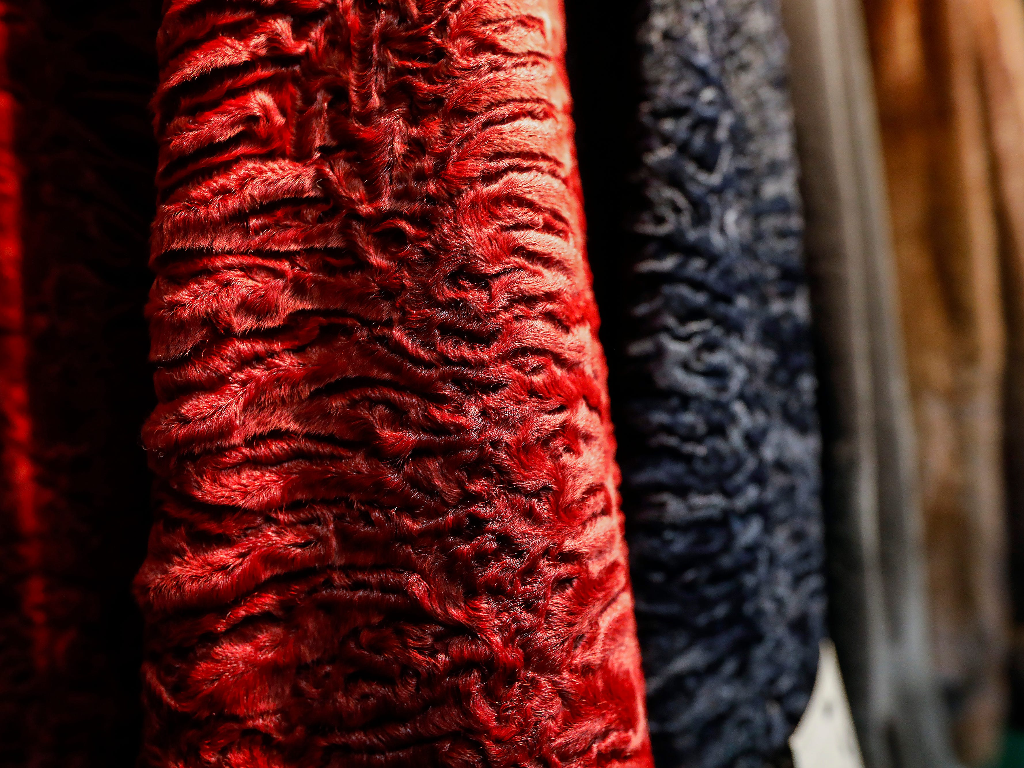 A look at a colorful coat sleeve at McDaniel Furs, located at 901 S. Glenstone Ave.