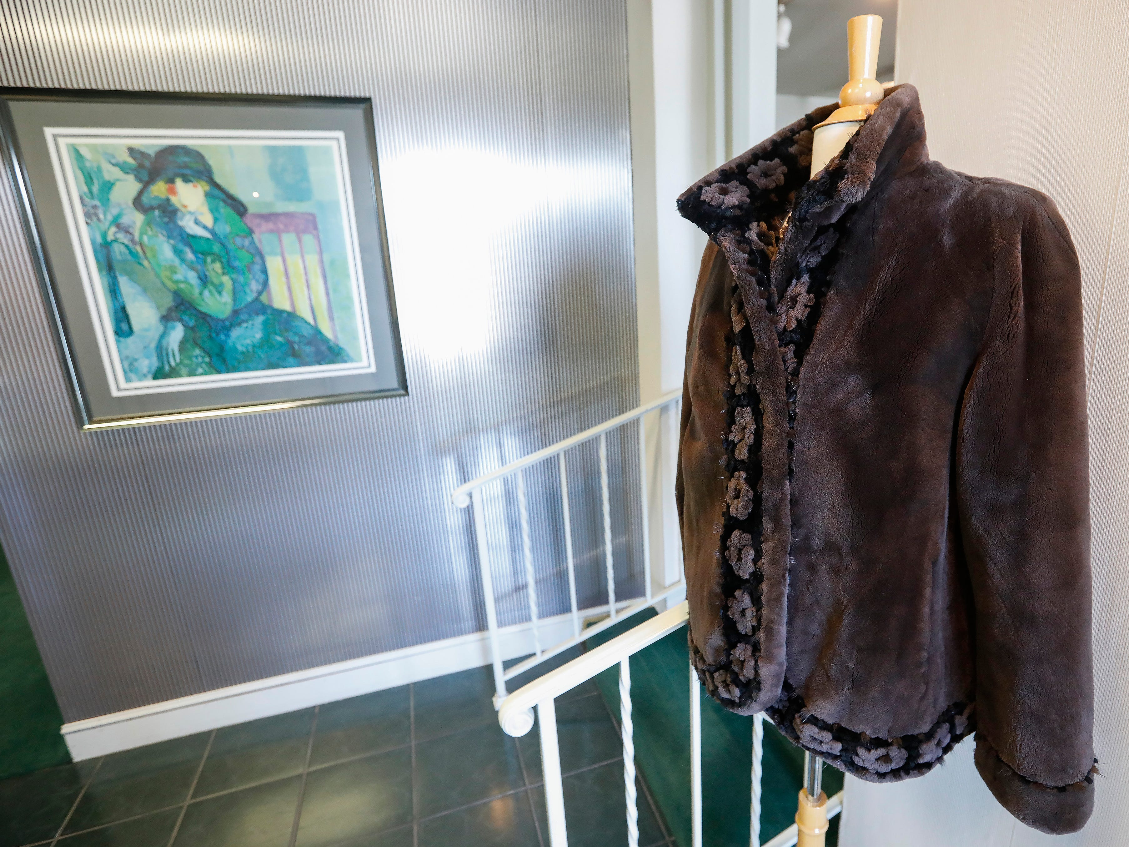This fur coat is located just inside the entrance to at McDaniel Furs, located at 901 S. Glenstone Ave.