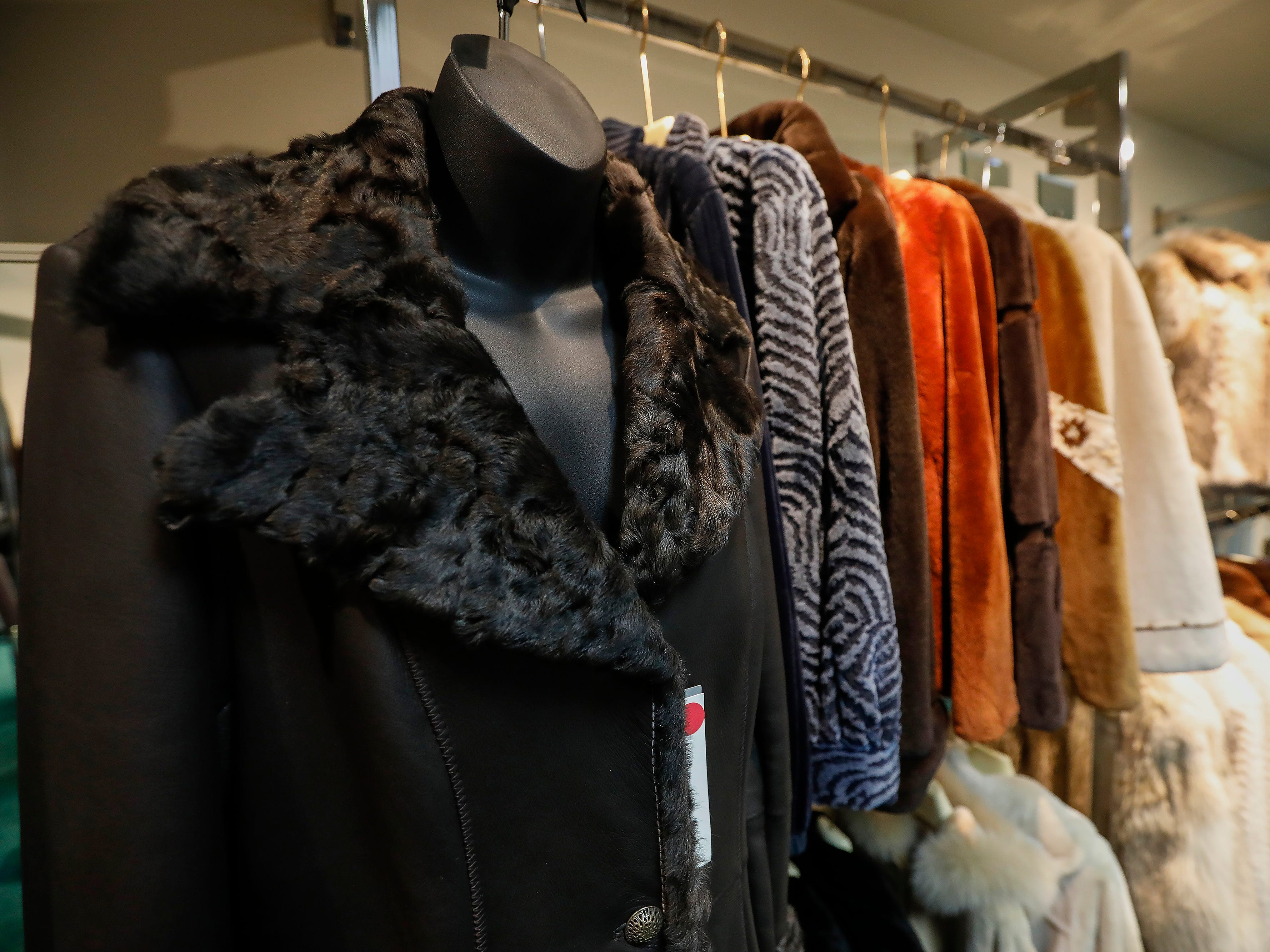 A look at some of the coats for sale at McDaniel Furs, located at 901 S. Glenstone Ave.