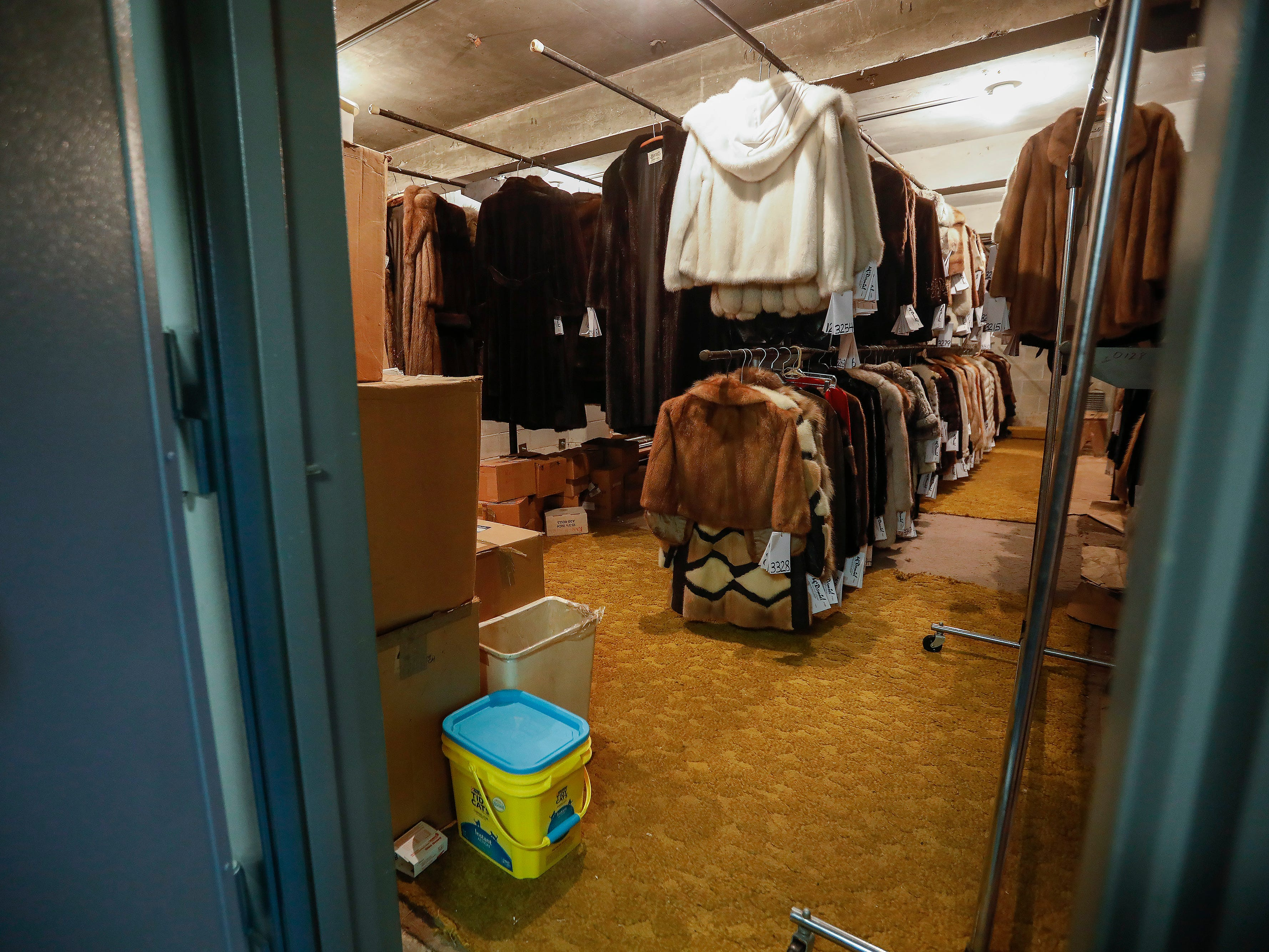 A look at some of the coats in storage at McDaniel Furs, located at 901 S. Glenstone Ave.
