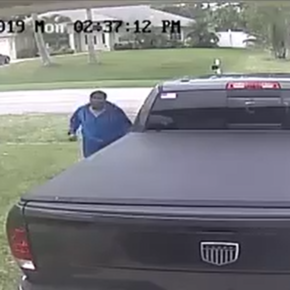 Police: Man caught on camera stealing pistol from unlocked truck in Port St. Lucie neighborhood