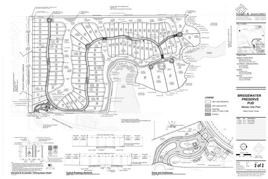 Bridgewater Preserve subdivision master site plan, created by Lucido & Associates.