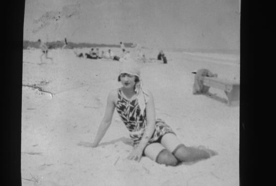 During the 1920s and 1930s, beaches along Orchid Island attracted tourists anxious to enjoy the natural beauty of both the Indian River and the Atlantic Ocean. Katherine Phillips is the woman pictured. She and her husband Elliot Phillips lived in the home directly north of the current Riomar Beach Club.