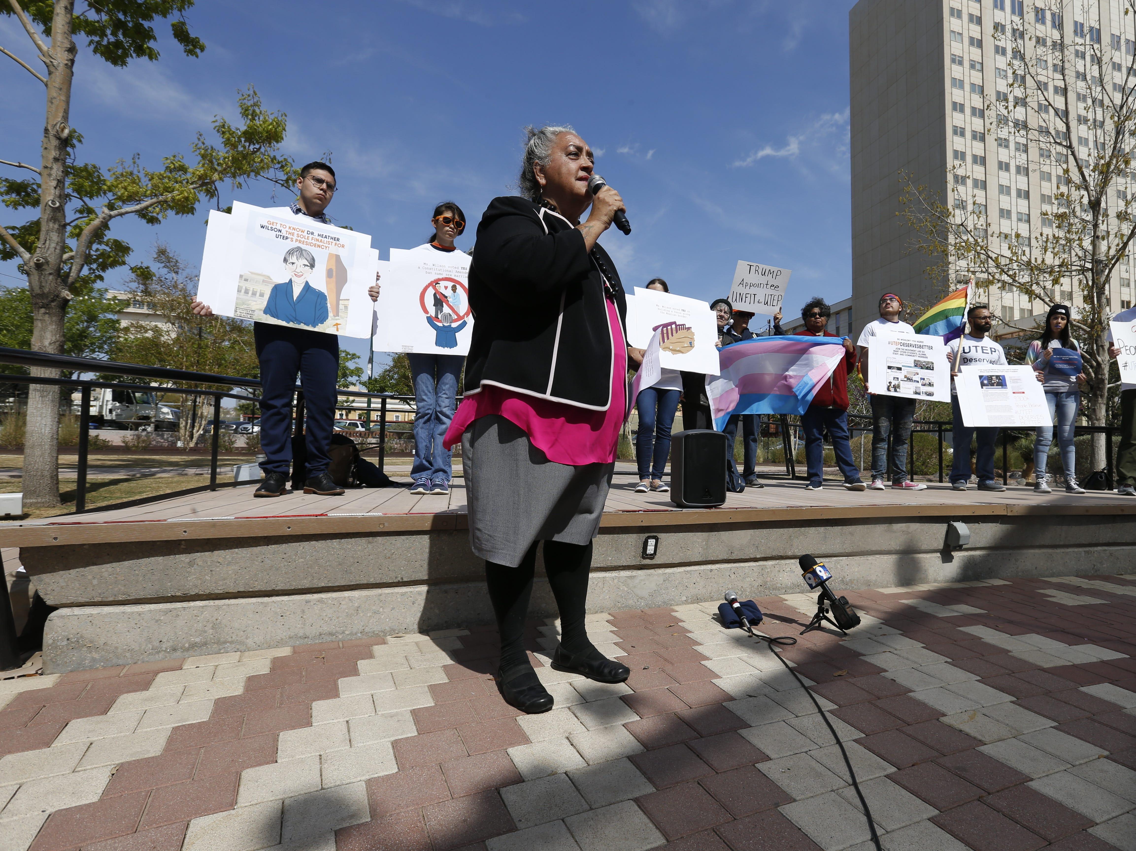 Yolanda Chavez Leyva, an associate professor at UTEP, calls for UT regents to reconsider decision to appoint Heather Wilson as President of UTEP.