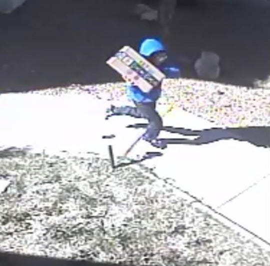 "A child ""porch pirate"" was filmed stealing a package from a Canutillo residence on March 14 and getting into a car."